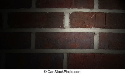 Camera movement on real brick wall - Camera and light...