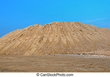 sand quarry - yellow gravel sand quarry mountain for...