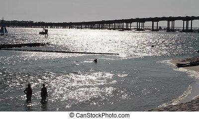 Destin Beach Silhouette