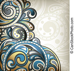 Abstract Scroll Background - Illustration of abstract scroll...