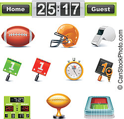Vector Amfootball/gridiron icon set - Set of the detailed...