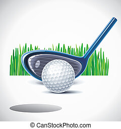 Vector golf club with ball