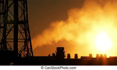 ironworks at sunset - an ironworks at a sunset