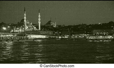 old film - istanbul scene with old film effect, shoot Canon...