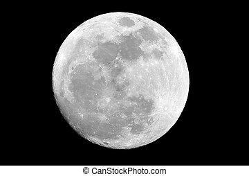 Full Moon - Full moon on a black sky