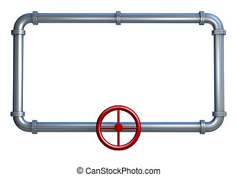 pipes frame - one rectangle made with pipes, with empty...