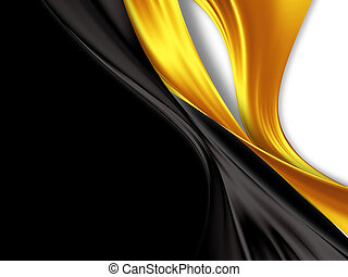 black and gold silk - elegant background