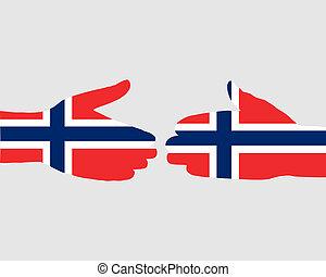 Norwegian handshake