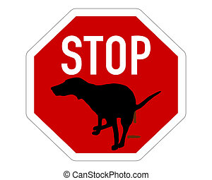 Stop sign dogs dump