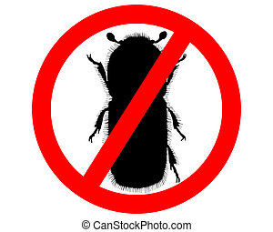Bark-beetle prohibition sign