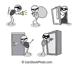 thief set vector editable vector
