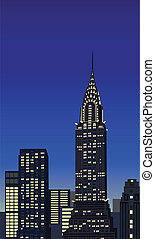 New York Skyscrapers - Illustration with skyscrapers