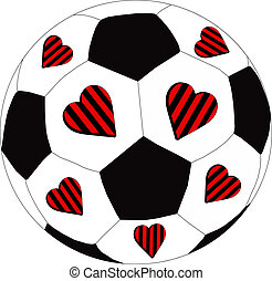 Heart Red and Black FC - The heart of the team as a symbol...