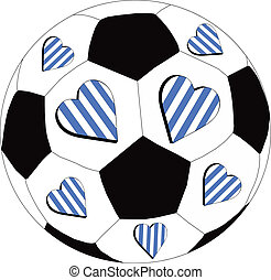 White and blue hearts FC - The heart of the team as a symbol...