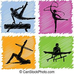gymnastics - vector