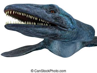 Elasmosaurus dinosaur Closeup