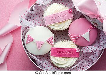 Cupcake gift box - Gift box of birthday cupcakes
