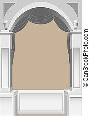 Ancient arch - vector illustration of a classic arch for use...