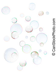 Background from bubbles - Background from natural soap...