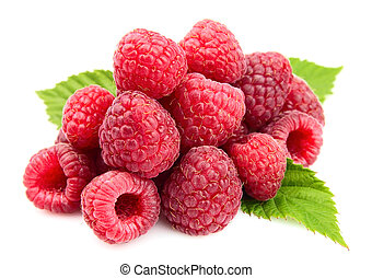 Sweet raspberry close up