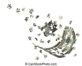 Hundred dollar bill separately portrait
