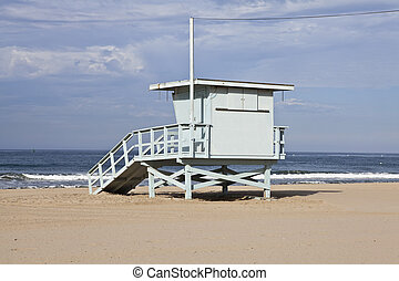 Santa Monica Beach Lifeguard Tower - Santa Monica beach...