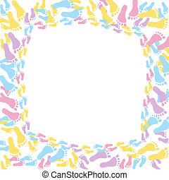 Multi-colored Baby Frame