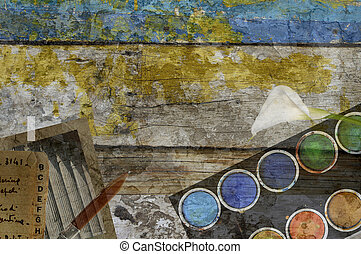watercolours - old colors...