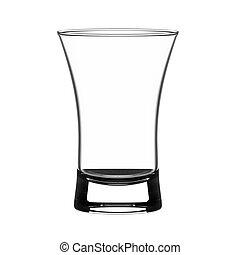 Shot glass - Empty shot glass isolated on white.