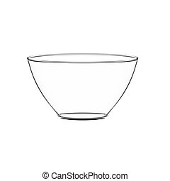 Bowl glass - Empty bowl glass isolated on white