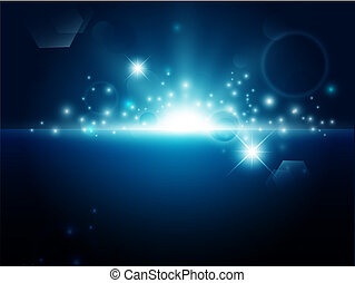 abstract bright blue background - bright night background...