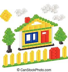 Constructor house - House of children plastic constructor on...