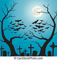 cemetery - A person who is formed from branches of the trees...