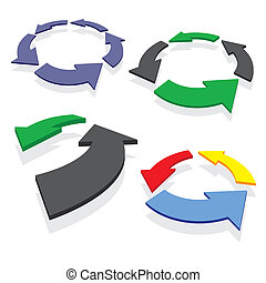 circled arrows set