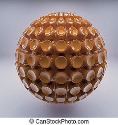Brown 3d sphere abstraction