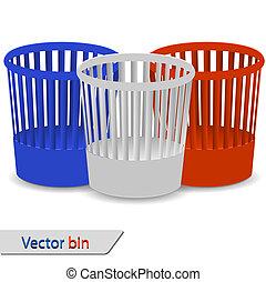 Set of bin for your design. Vector illustration