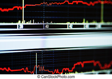 Stock index on the computer monitor - Stock index on the lcd...