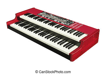 electronic organ - The image of an electronic organ under...
