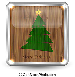Merry Christmass sign for your design. Vector illustration