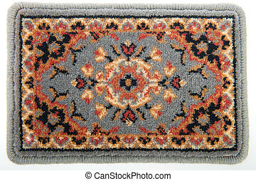 Gray carpet - Gray Persian carpet with pattern isolated over...