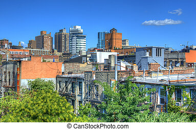 Tenements - Lower East Side Tenements in New York City.
