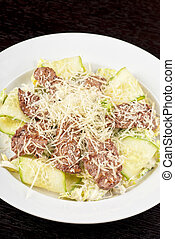 Salad with beef
