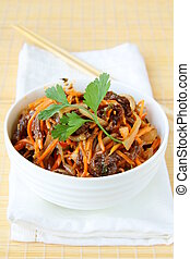 Asian style salad with carrots