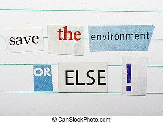 ambiente, excepto