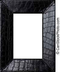 Black leather frame