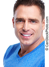 Man. - Handsome smiling man. Isolated over white background