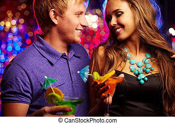 Amorous clubbers - Image of happy couple having fun in the...