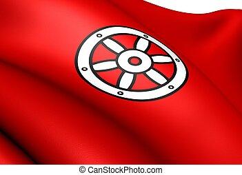 Electorate of Mainz flag. Close up.