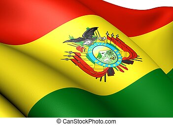 Flag of Bolivia. Close up.