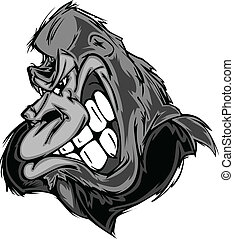 Gorilla or Ape Mascot Cartoon - Cartoon Image of a Gorilla...